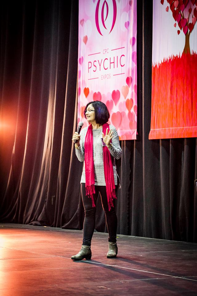 Katy-K presenting at the Mind, Body, Spirit Festival
