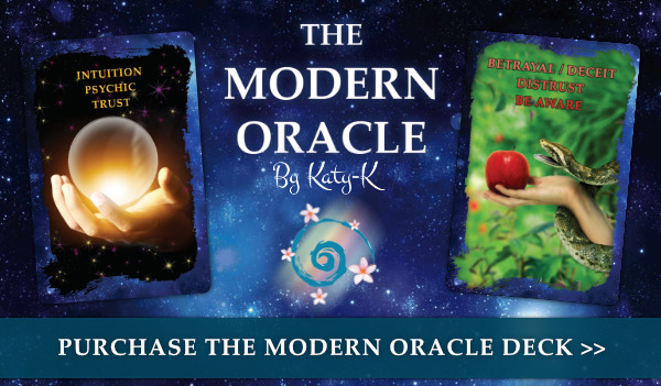 Katy-K Spiritual Advancement Academy - Purchase the modern oracle deck and guidebook by katy-k today